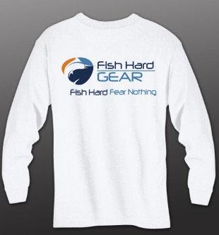 Fish Hard Original Logo LS Tee