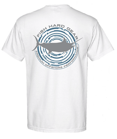 Fish Hard Gear Circle Marlin Tee