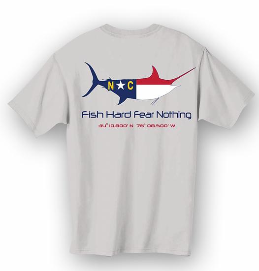 Fish Hard Gear NC Marlin FlagTee