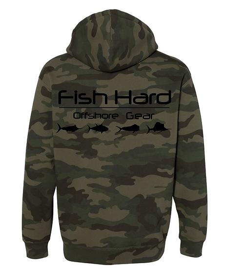 Fish Hard Gear Camo Logo Hoodie