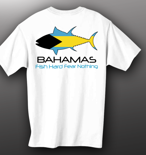 Fish Hard Bahama Flag Tuna Tee