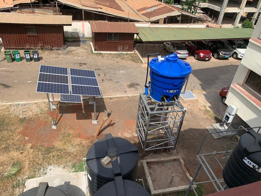 Aqua Africa set up a demonstration site at the Community Water and Sanitation headquarters in Accra