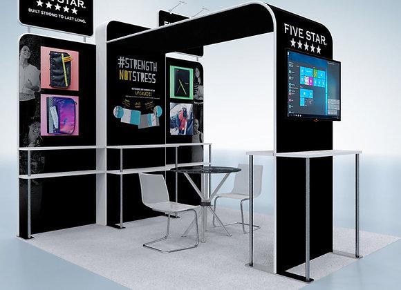 10x10 Tension Fabric Exhibit Booth (Self-Build) AENIM303