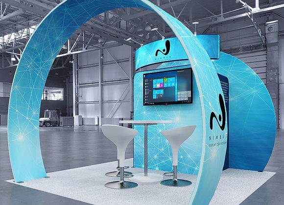 10x10 Tension Fabric Exhibit Booth (Self-Build) AENIM300