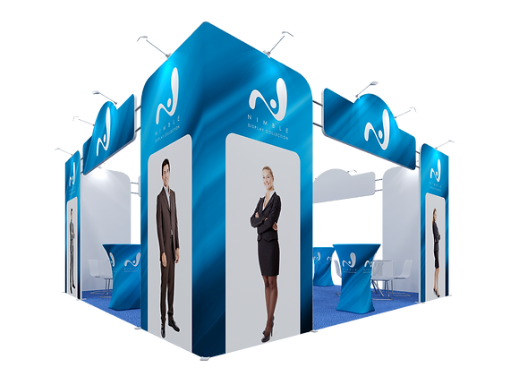 20x20 Tension Fabric Exhibit Booth (Self-Build) AENIM309