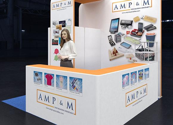 10x10 Tension Fabric Exhibit Booth (Self-Build) AENIM301