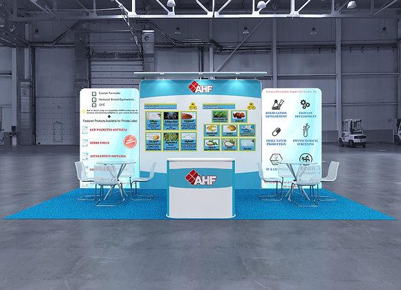 10x20 Tension Fabric Exhibit Booth (Self-Build) AENIM306