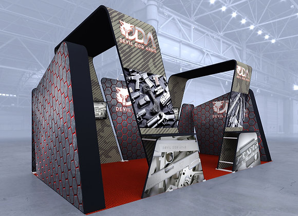20x20 Tension Fabric Exhibit Booth (Self-Build) AENIM307