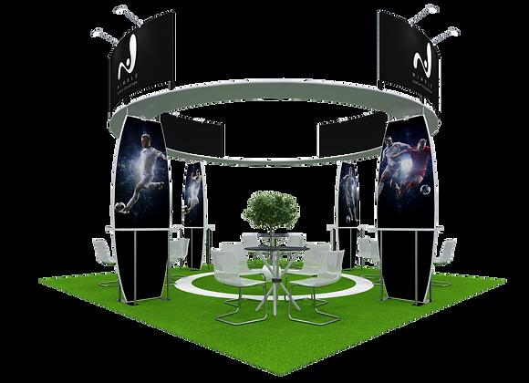 20x20 Tension Fabric Exhibit Booth (Self-Build) AENIM310