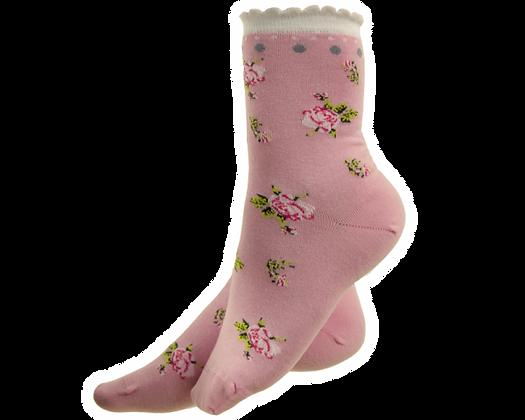 Strømpe, pink, Elegante Eglantine