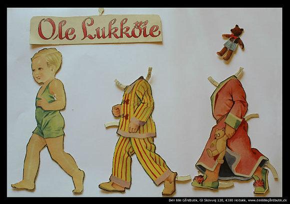 Påklædningsdukke Ole Lukøje nattøj