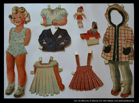 Kort påklædningsdukke Lotte