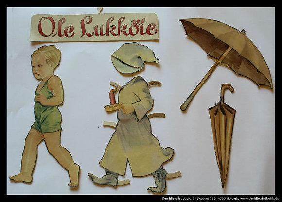 Kort Ole Lukøje med kostume
