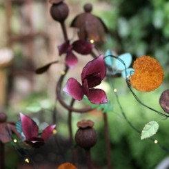 Petit fleur lyskæde, håndlavet metal