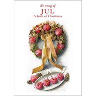 Smagen af jul, 8 kort samt kurverter