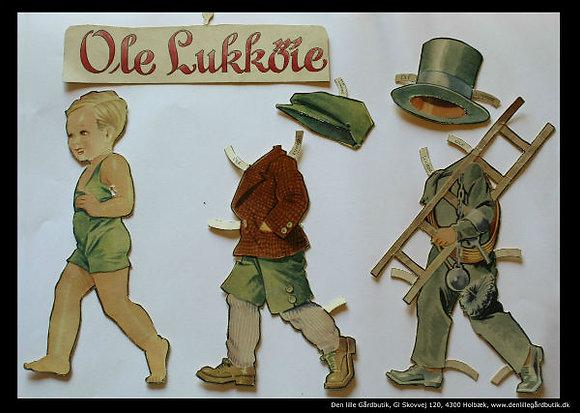 Påklædningsdukke Ole Lukøje skorstensfejer