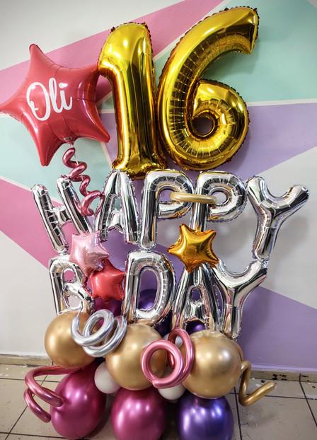 Happy Birthday con Número