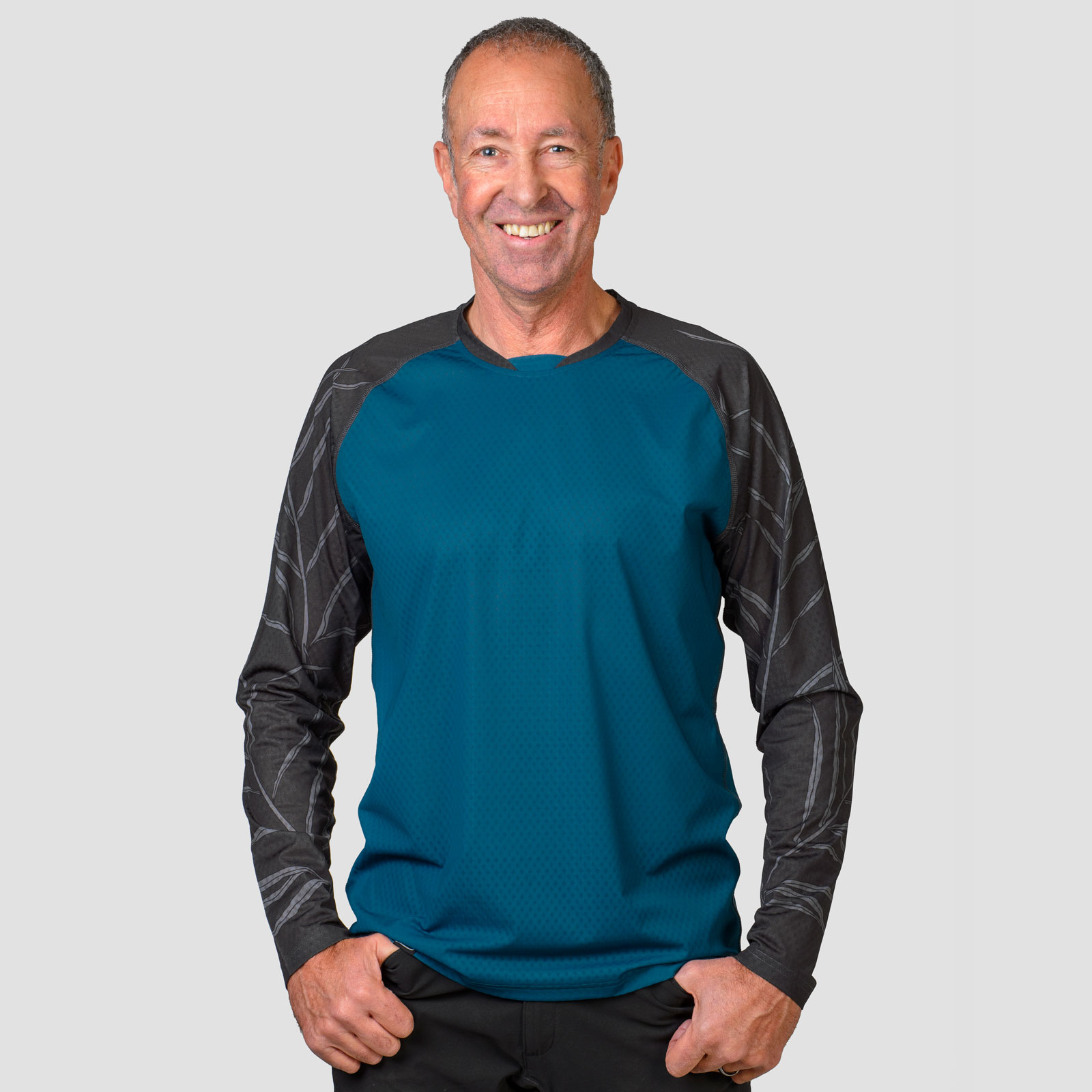 Mens long sleeve mtb jersey grant