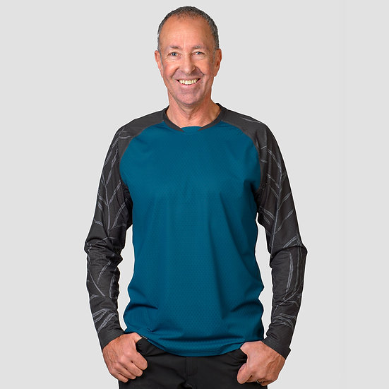 Men's Stack Long Sleeve GULLY FERN Ocean