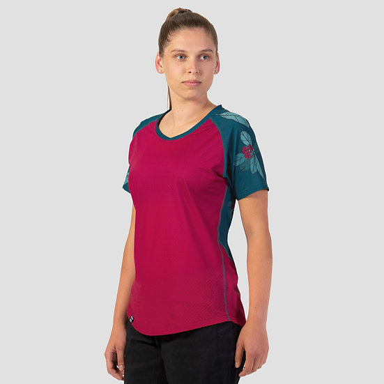 Stack Short Sleeve KARO Raspberry
