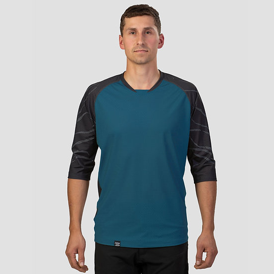 Men's Stack 3/4 Sleeve GULLY FERN Ocean