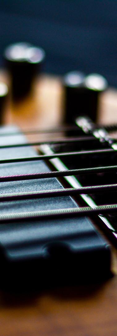 E-Bass-Gitarre Detail