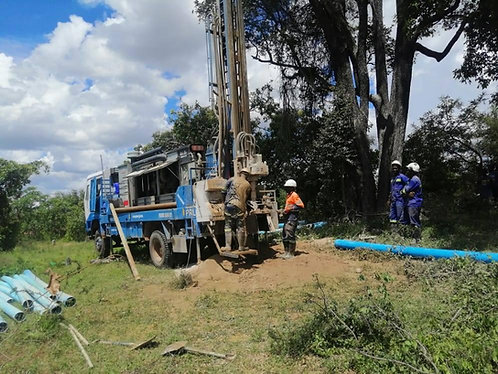 Drilling and casing for 40m