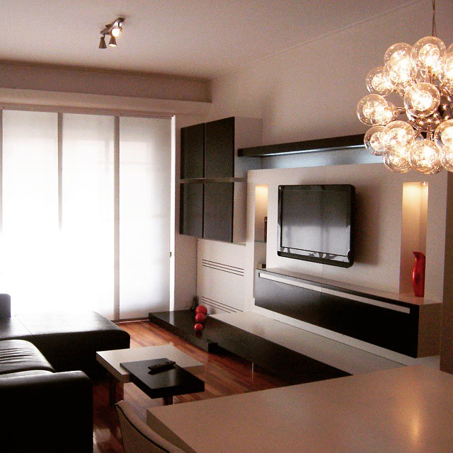 Apartment in Buenos Aires project!__Modern#space#young#style#custom#furniture#TVunit#coffetable#simp