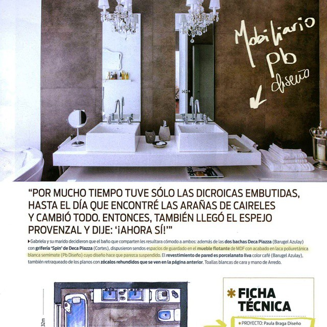 Bathroom project!! Residencial project in magazine Living, Argentina