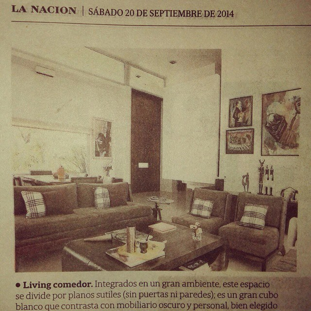 My design table and  my living room furnitures in national newspaper !!😊