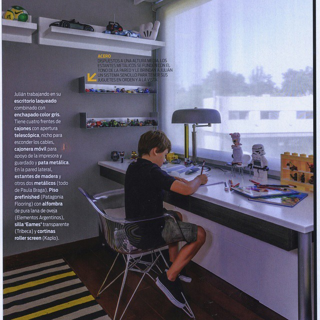 Kid bedroom!_Revista LIVING, Argentina_Study Area !__Kidsbedroom#customfurniture#customdesign#pbdise