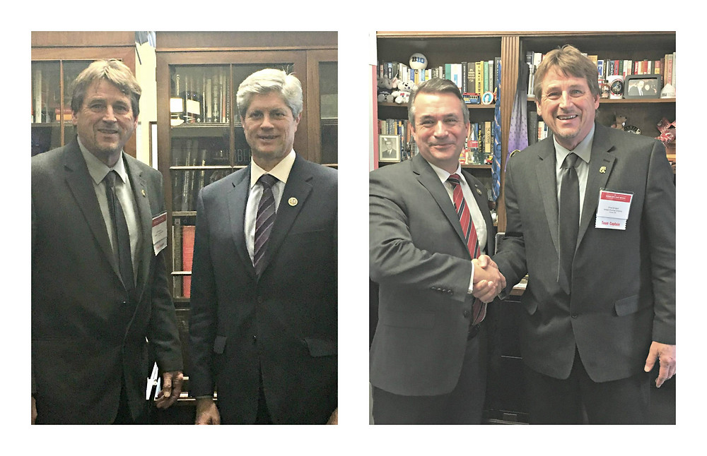Greg Sprague, President of Sprague Rooifng with Congressman Fortenberry (left) and Congressman Bacon (right).