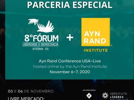 8º FLD firma parceria com Ayn Rand Conference 2020 para benefícios aos participantes