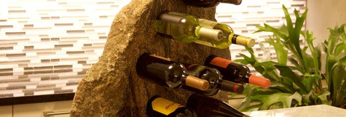 6 Bottle Stone Wine Rack