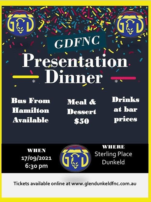 2021 Presentation Dinner Ticket