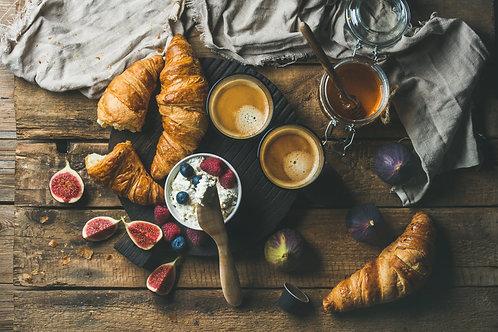 Breakfast service - 3 days. Price per person