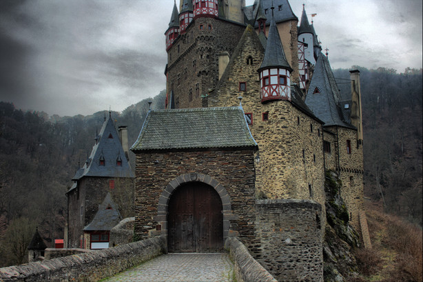 Another view of the German castle that was the inspiration for Ghoul School
