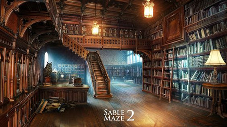 What the inside of the Ghoul School Library looks like