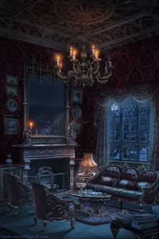 The appearance of Abigail Del Toro's quaint parlor which can transform into a physician's parlor.