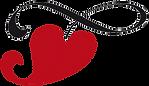 Das Herz, des Federwiegen Logos von Lullababy International. Die Federwiege mit Herz symbolisiert die Liebe der Mutter zu ihrem Kind