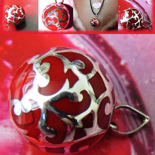 Lullababy® Bola Vulcano die Schwangerschaftsbola mit der tiefroten Farbe, für das Feiern der Wunder des Lebens.