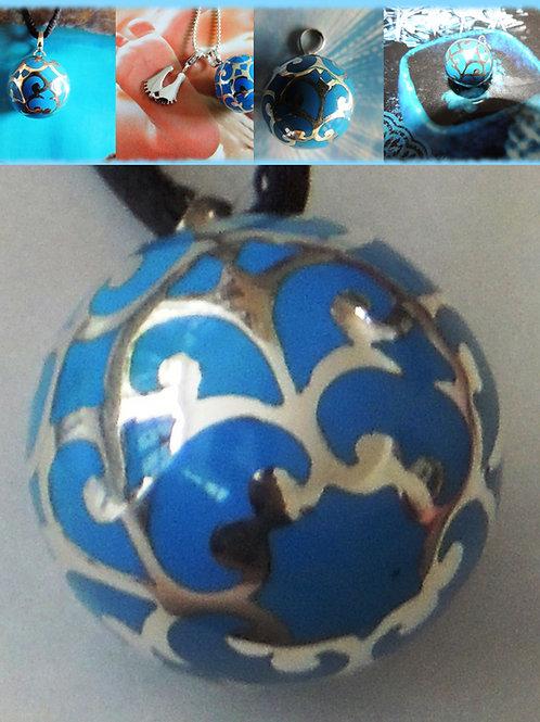 Lullababy® Federwiege - SchwangerschaftsBola Ocean, diese Schwangerschafts Bola in Ocean Blau