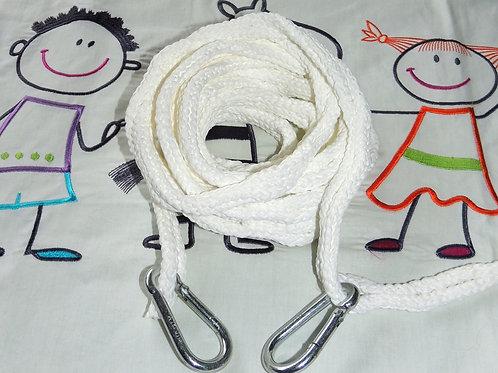 Lullababy® International - BabyMove Federwiege Seitenbalancer Weiß für große Körbe so bleiben diese in der Waage und gerade.