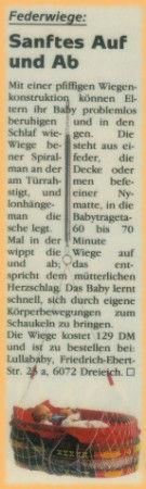 Lullababy® Federwiegen- Therapeutically Baby Movement Federwiege, eine pfiffige Wiegenkonstruktion beruhigt Babys Problemlos