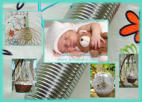 Lullababy Federwiege; Ideal für Babys. Sensationell für Schreibabys. Phänomeneal für Frühchen. Phantastisch für Zwillinge. Federwigen Flyer für Federwiege mit kurzer Feder