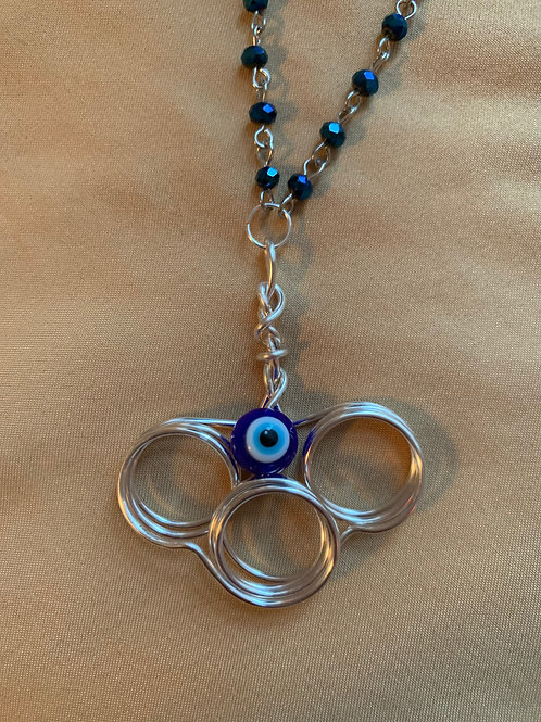 Wrapped Evil Eye Necklace