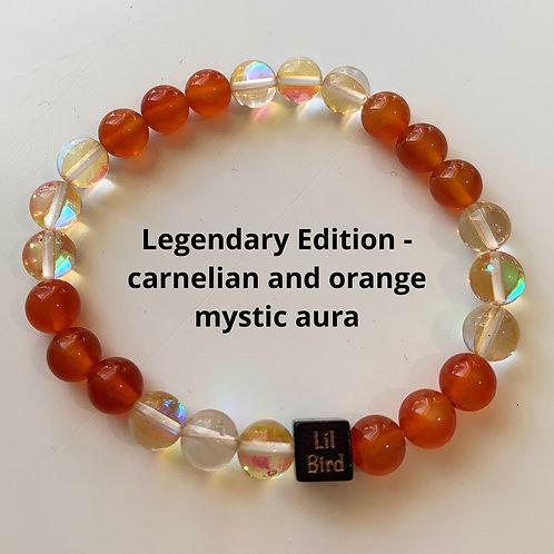 Legendary Edition - Pumpkin Wolf - carnelian and orange mystic aura
