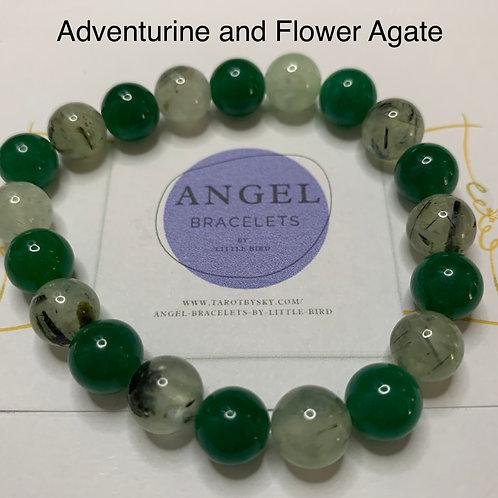 Aventurine and Flower Agate