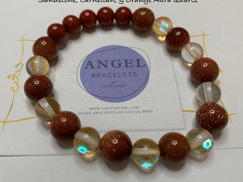 Sandstone, Carnelian, & Orange Aura Quartz