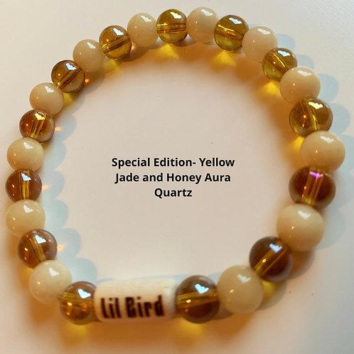 Special Edition- Vanilla Jade and Honey Aura Quartz
